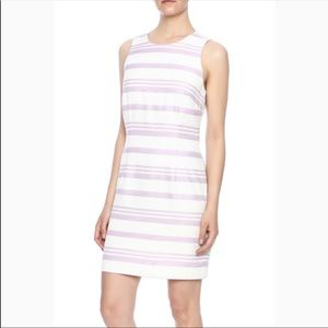 Cupcakes & Cashmere Pink White Striped Dress